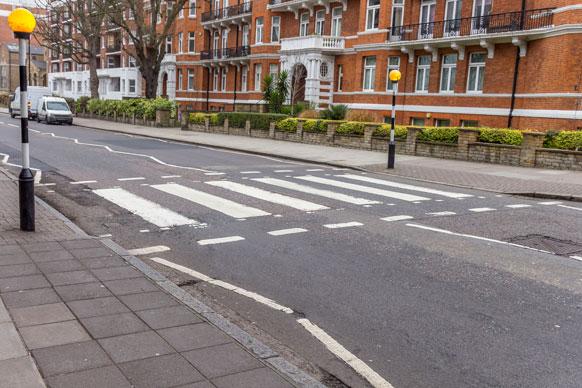 crosswalk on Abbey Road in London
