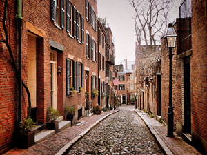 Acorn Street on Beacon Hill, Boston, Massachusetts