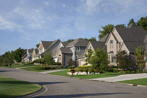 homes along a suburban street